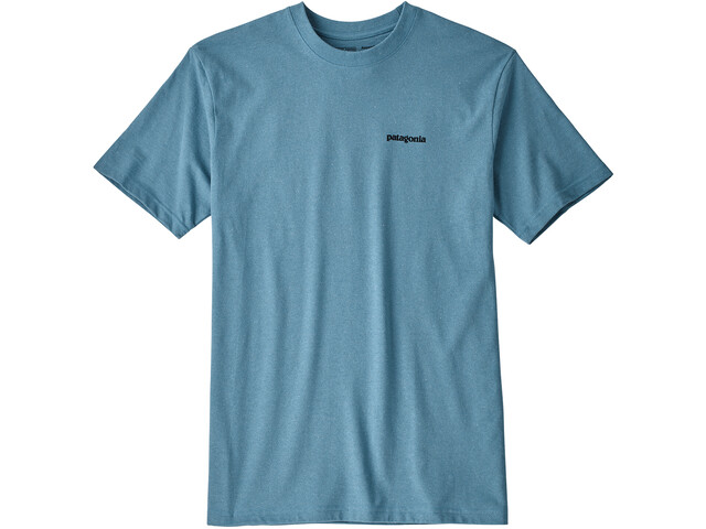 Patagonia P-6 Logo Camiseta responsable Hombre, mako blue